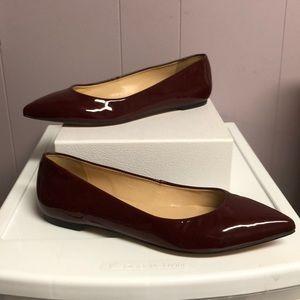 Talbots Flats Maroon  Size 8 1/2 B New